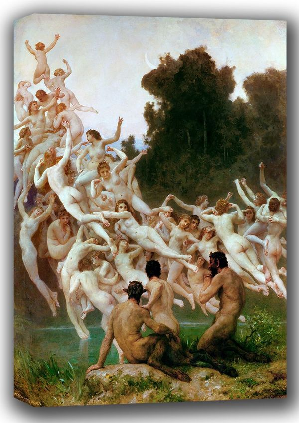 Bouguereau, William-Adolphe: The Oreads. Fine Art Canvas. Sizes: A4/A3/A2/A1 (001623)